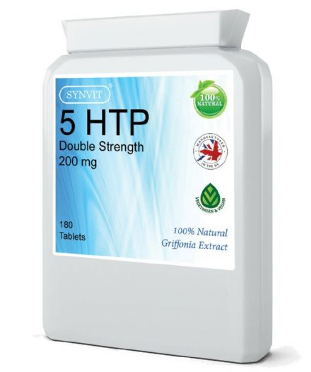 5-HTP Double Strength 200mg x 180 Tablets; Synvit